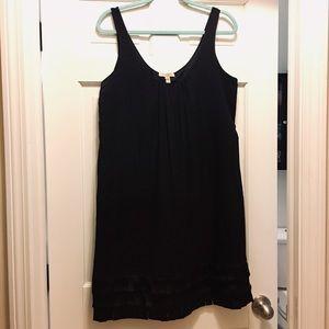 🌹Burberry Black Silk Blend Fringe Dress Size 12🌹